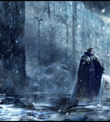 Jon Snow and Ghost on The Wall