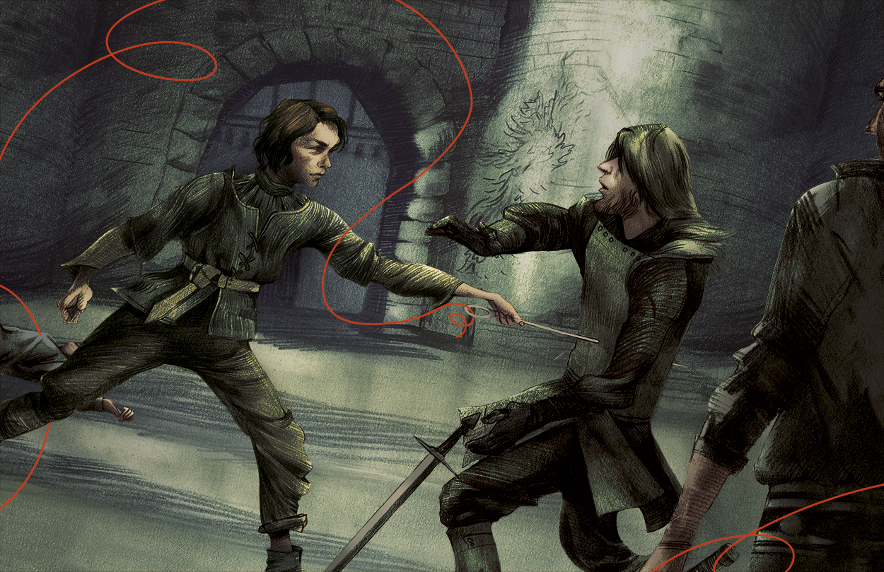 Arya Kills With Needle