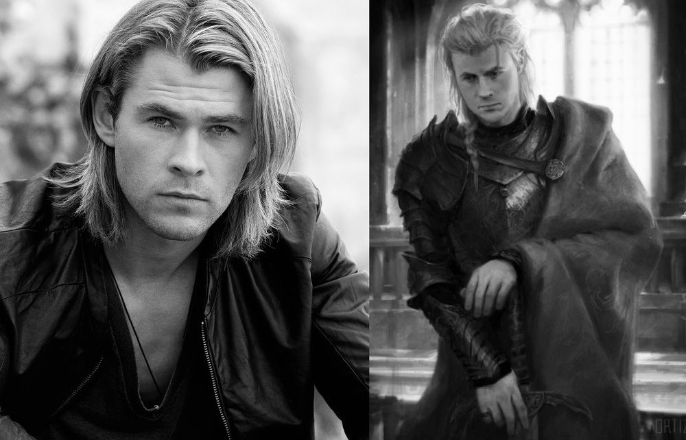 Chris Hemsworth as Rhaegar Targaryen the Last Dragon