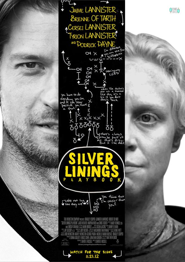 Jaime Lannister, Brienne of Tarth in Silver Linings Playbook