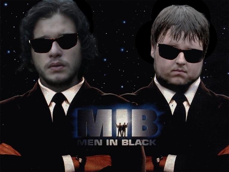 Jon Snow and Samwell Tarly in Men In Black