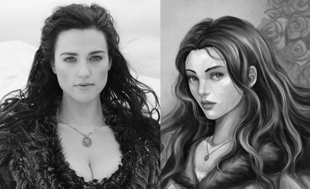 Katie McGrath as Lyanna Stark the Wolf Maid-14