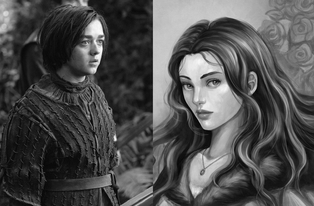 Maisie Williams as Lyanna Stark the Wolf Maid