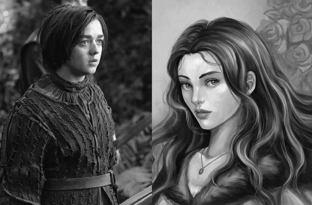 Maisie Williams as Lyanna Stark the Wolf Maid