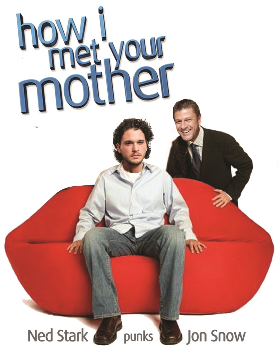 Ned Stark and Jon Snow in how I Met Your Mother