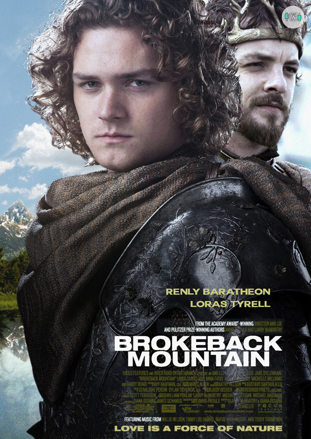 Renly Baratheon and Loras Tyrell - Brokeback Mountain