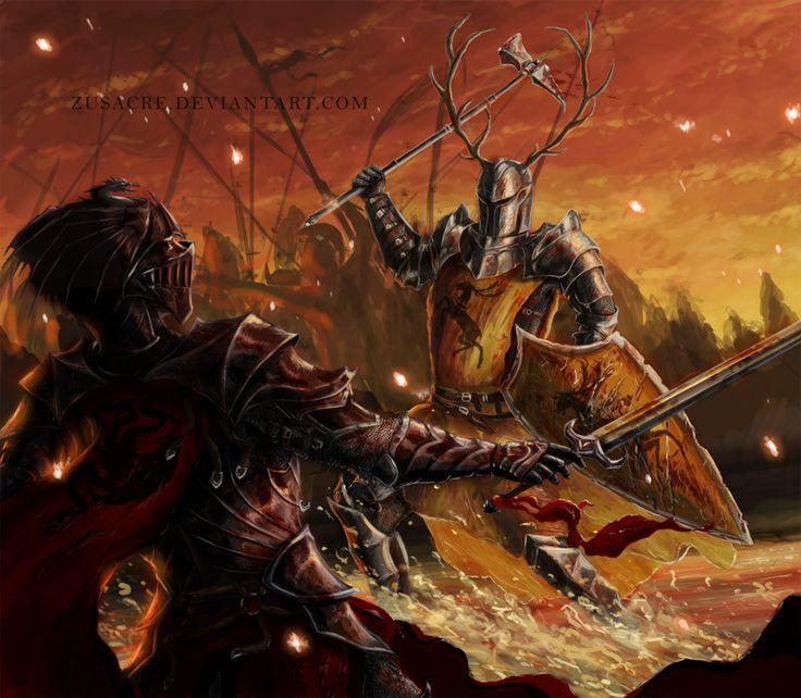 Robert Baratheon: Robert Baratheon Kills Rhaegar Targaryen