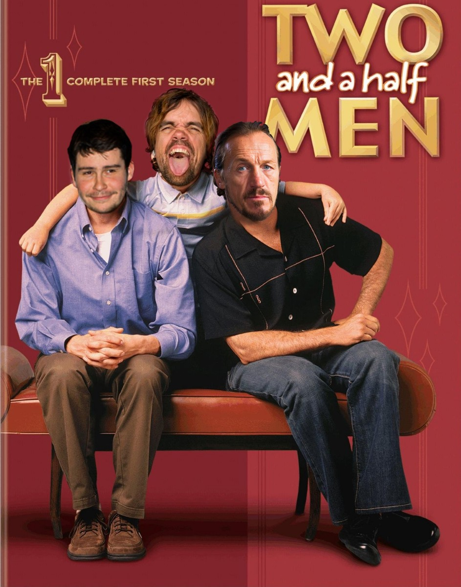 Tyrion Bronn and Podrick in Two and a Half Men