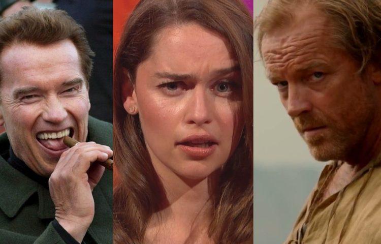 Arnold-Schwarzenegger, Daenerys Targaryen, Jorah Mormont_