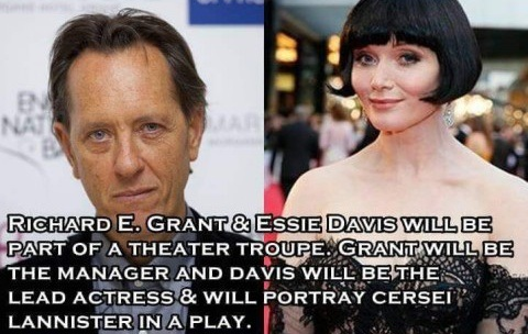 Mummers Troup (Cersei and Manager) - Richard E Grant, Essie Davis