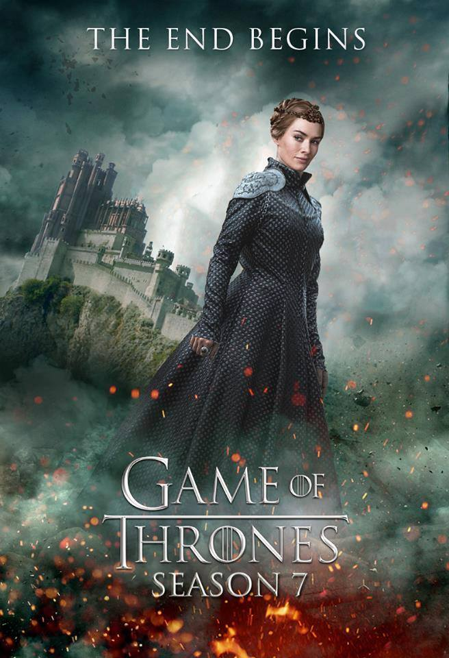 Cersei Lannister - GoT Season 7 Fan Poster