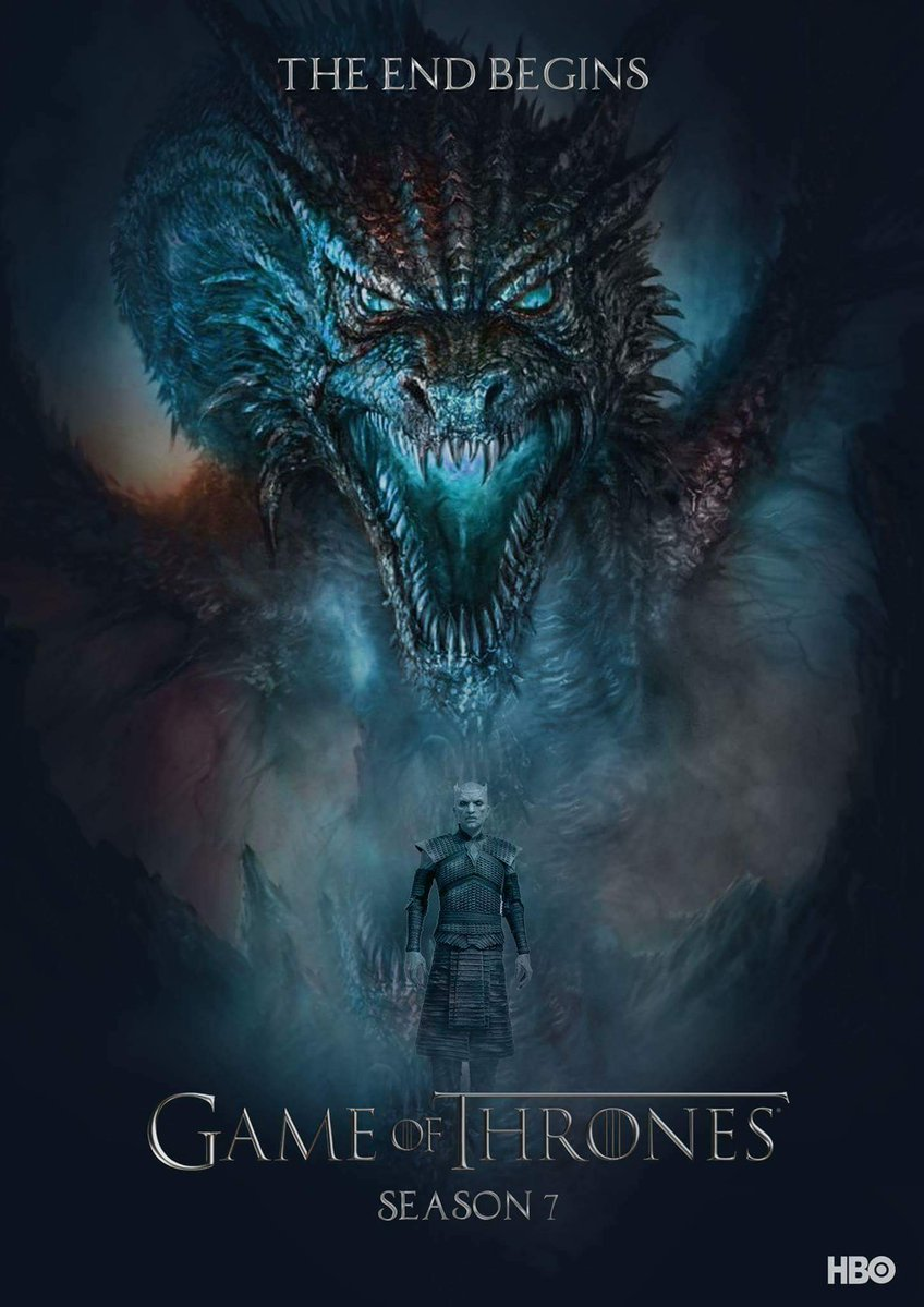 Night King and Wight Dragon - GoT Season 7 Fan Poster