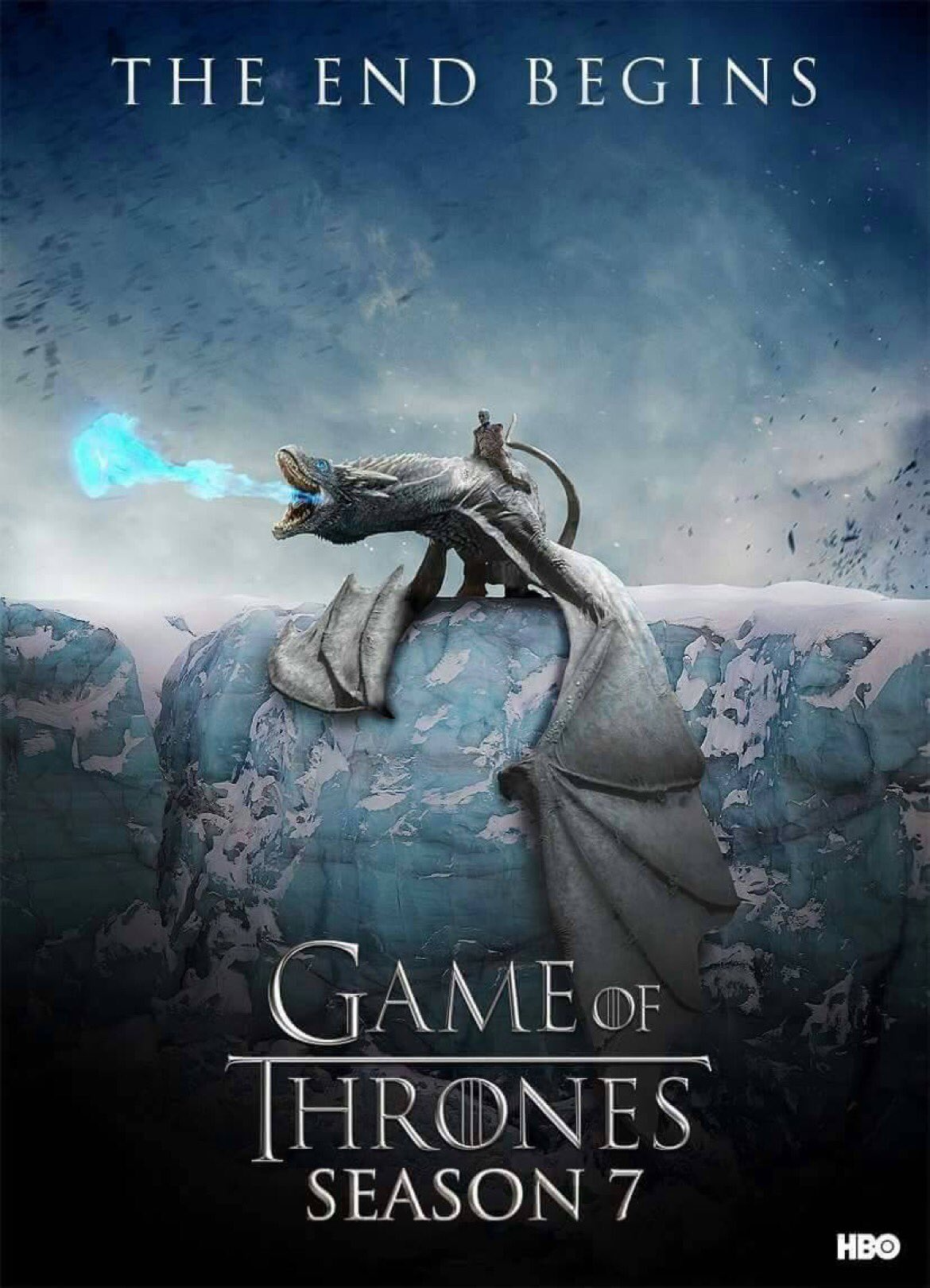 The Night King and Viserion - GoT Season 7 Fan Poster