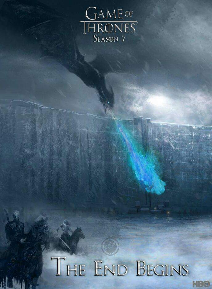 Walkers On The Wall - GoT Season 7 Fan Poster