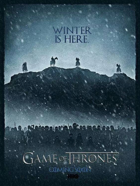 White Walkers - GoT Season 7 Fan Poster