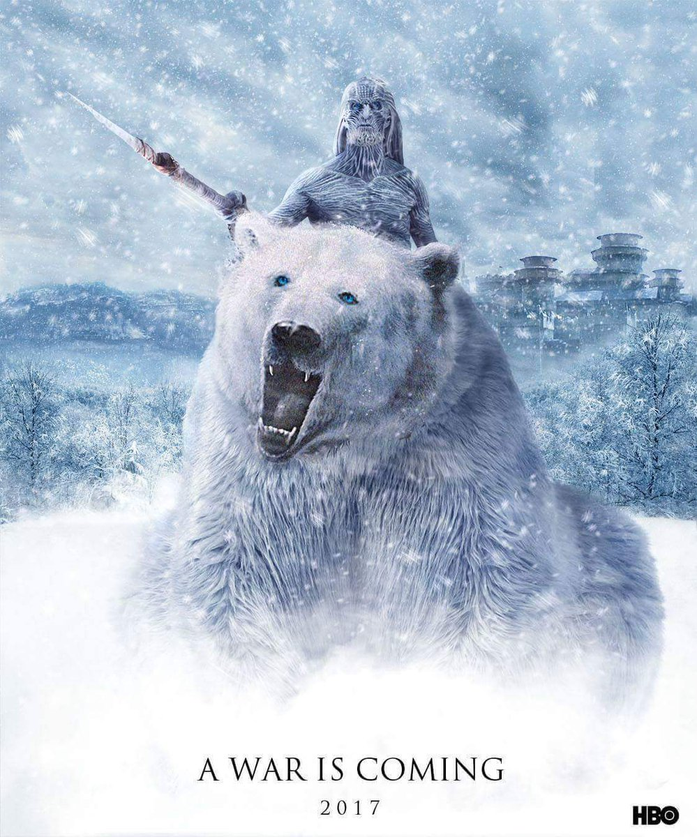 White Walkers and Wight Bear - GoT Season 7 Fan Poster