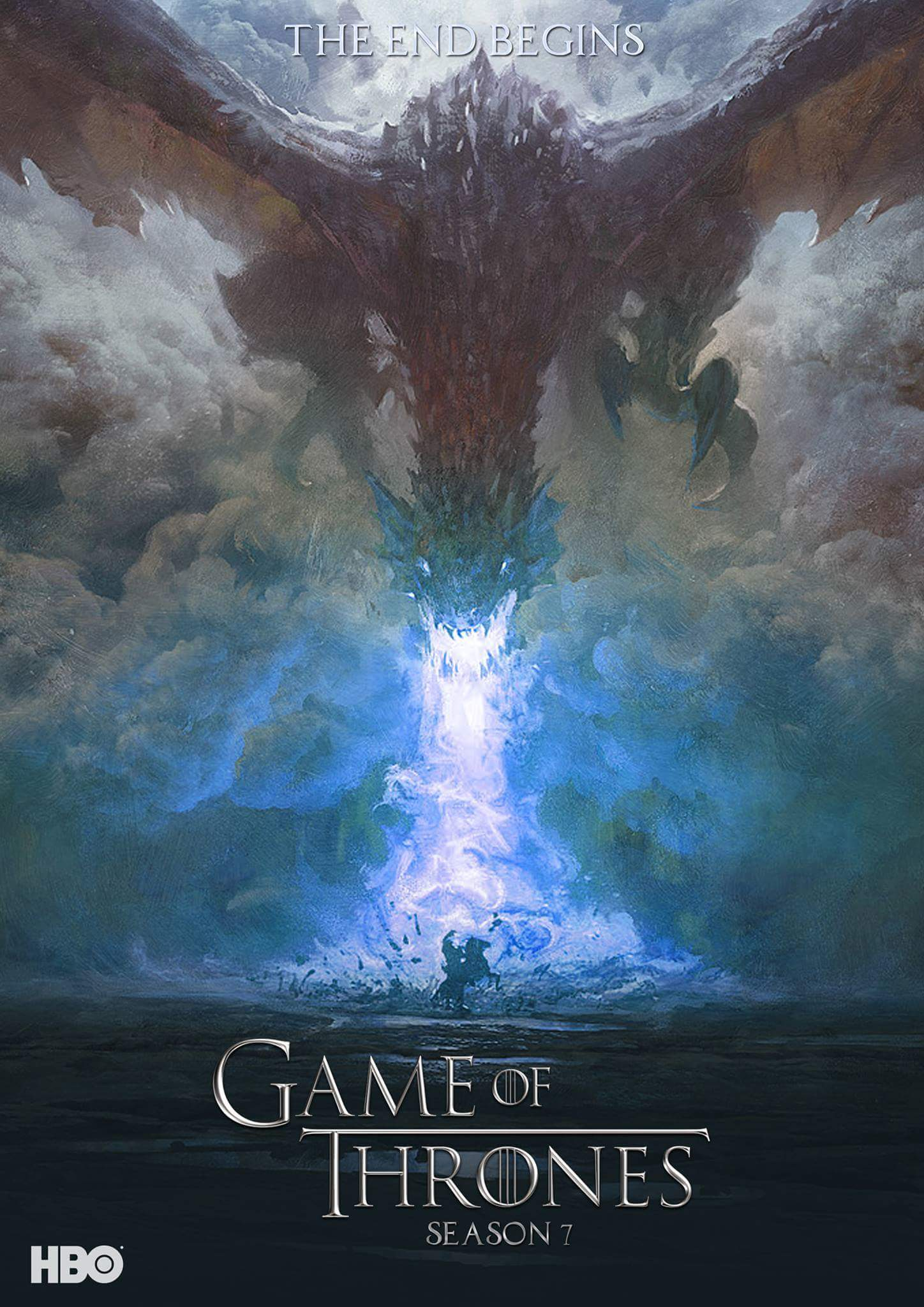 Wight Dragon - GoT Season 7 Fan Poster
