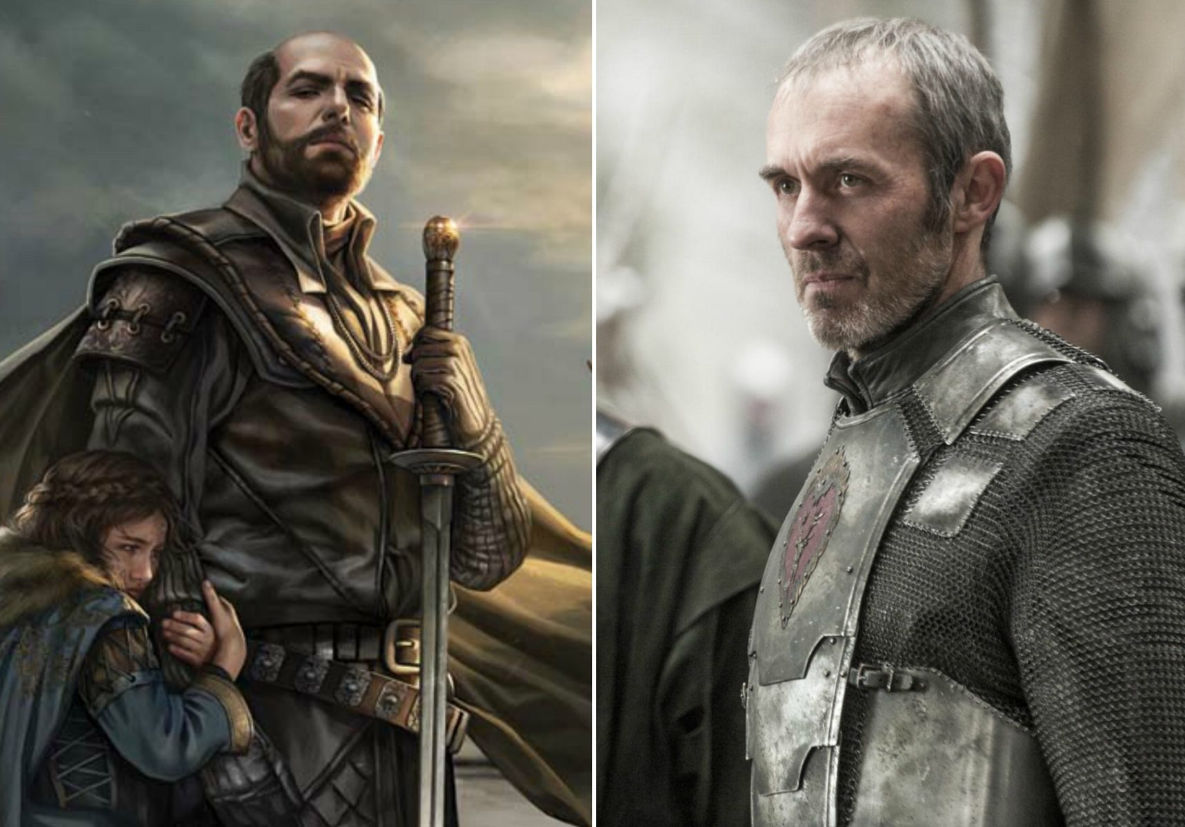 Image result for Stannis show vs book